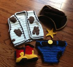 Hey, I found this really awesome Etsy listing at https://www.etsy.com/listing/156797099/crochet-cowboy-outfit-cowprint-vest