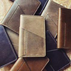 Leather Field Notes Covers. #handmade #leathercraft