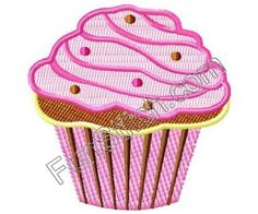 Birthday cupcake machine embroidery design. $3.95, via Etsy.