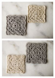 Square Shell coasters