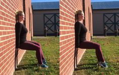 6 Ways To Make A Wall Sit Work Your Core, Legs, And Butt Even More  http://www.prevention.com/fitness/wall-sit-variations?utm_campaign=20161208