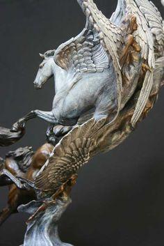Angels Landing - click to see multiple views of this lovely sculpture by Jan Van Ek