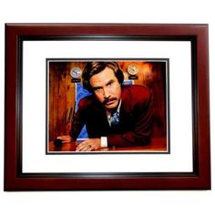Real Deal Memorabilia WFerrell11x14-6MF Will Ferrell Signed - Autographed Anchorman The Legend of Ron Burgundy 11 x 14 in. Photo Mahogany Custom Frame - Guaranteed to Pass PSA or JSA, As Shown