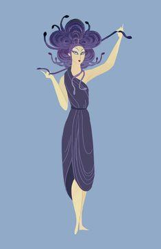Medusa Erté (Romain de Tertoff) Art Deco poster design!