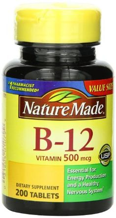 Nature Made Vitamin B-12 500 Mcg, Tablets, 200-Count //Price: $10.58 & FREE Shipping //     #hashtag4