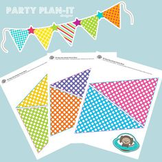 Colourful Dots Pennant Printables