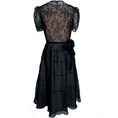 VALENTINO Flower belt with lace dress | Brand dress rental salon''SHIROTA''
