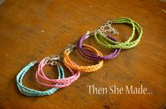 Then she made...: Braided Bracelet Tutorial