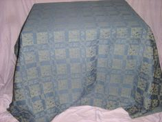SEARS WHOLE HOME TABLECLOTH - 58  x 102  - Polyester/Cotton Jacquard Damask Damask, Quilts, Blanket, Cotton, Ebay, Home, Damascus, Quilt Sets, Ad Home