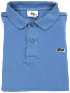 Lacoste Polo Shirt Mens Medium Size 5 Short Sleeve Pique Cotton Blue Rugby Sz M…