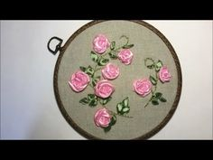 Sewing Hack with Ice Cream Stick Satin Ribbon Flowers, Ribbon Art, Fabric Flowers, Pearl Embroidery, Silk Ribbon Embroidery, Hand Embroidery, Embroidery Stitches Tutorial, Embroidery Designs, Burlap Bubble Wreath