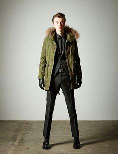 Love Fashion, Winter Fashion, Mens Fashion, Fashion Tips, Fashion Design, Fashion Ideas, Fishtail Parka, Mens Winter Coat, Winter Tops