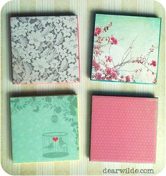 #DIY Drink Coaster Tiles.. such a fun and simple project!!