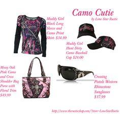 """Camo Cutie"" by barrelracer910 on Polyvorehttp://www.therusticshop.com/?store=LoneStarRustic"