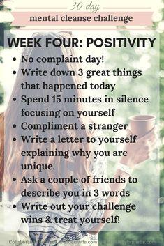 Mental Cleanse Challenge: Week Four | http://www.awelderswife.com