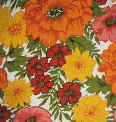 Vintage 70s Fabric