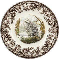 Spode's Snowy Owl Dinner Plate