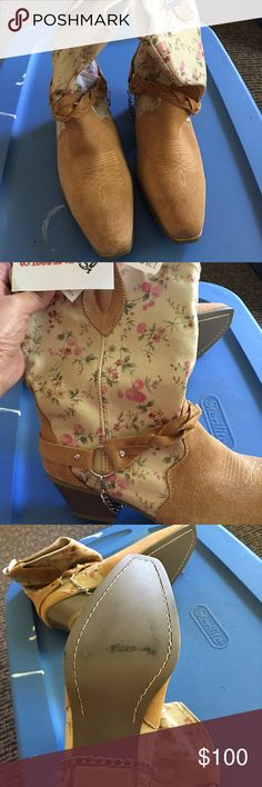 Zoora Hairstyle : Brand new boots bought in Nashville never worn Only tried on size 9 1 ...
