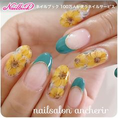 Yellow flowers and turquoise tips