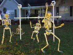 Skeletons in yard