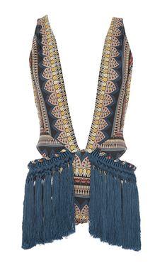 Multi ethnic lace fringe maillot