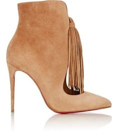 Christian Louboutin Fringed Ottocarl Ankle Boots at Barneys New York