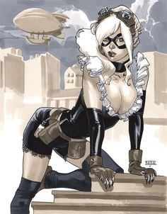 Steampunk Black Cat II by Mahmud Asrar Auction your comics on http://www.comicbazaar.co.uk