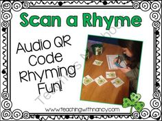 St. Patricks Day Scan a Rhyme (QR Code Activity) from Teaching With Nancy  on TeachersNotebook.com -  (6 pages)  - Free: QR Code Rhyming Activity for PreK-1st grade.  Perfect for a center activity.