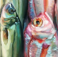 """Daily Paintworks - """"Fish Study 14"""" - Original Fine Art for Sale - © Holly Storlie"""