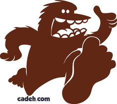 Some single color logos for a company selling a dog treat called Bigfoot Biscuits.