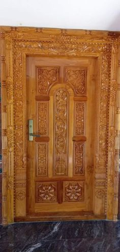 Front Door Design Wood, Double Door Design, Wooden Door Design, Wooden Doors, Single Main Door Designs, Door Design Photos, New Modern House, Wooden Sofa Designs, Door Frames