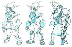 View an image titled 'Jak Concept Art' in our Jak II art gallery featuring official character designs, concept art, and promo pictures. Character Design References, Character Art, Jak & Daxter, Fantasy Races, Drawing Reference, Art Pictures, Game Art, Concept Art, Art Gallery