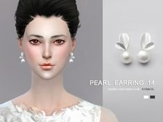 Sims 4 CC's - The Best: Pearl Earrings by S-Club