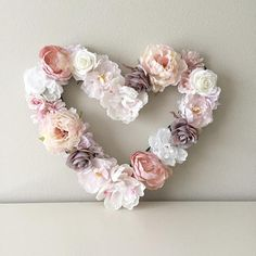 Make your own gorgeous Valentine's Day decor with these 19 DIY heart decorations. These awesome Valentine tutorials provide plenty of decor inspiration. Light Pink Flowers, Faux Flowers, Silk Flowers, Paper Flowers, Grave Flowers, Floral Wedding Decorations, Heart Decorations, Valentine Decorations, Decor Wedding