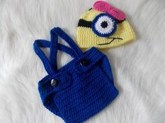 SALECrochet Minion outfitMinion crochet by CuteSuppliesStore, $19.00