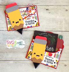 Candi O Designs: Thanks a Latte Teacher! Teacher Thank You Cards, Teachers Day Gifts, Best Teacher Gifts, Staff Appreciation Gifts, Pop Up Box Cards, Cricut Cards, Cute Cards, Homemade Cards, Preschool Activities