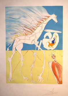Artist: Salvador Dali Title: Conquest of Cosmos Saturnian Giraffe Medium: Original Intaglio Purchase: www.abstract-inc.net