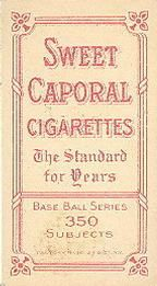 1909-11 The American Tobacco Company T206 White Border #131 Mike Donlin Back