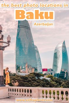 Planning a trip to Baku, the capital of Azerbaijan? There are many great spots in Baku to take a beautiful picture, such as Baku Old Town, Highland Park and the Flame Towers. I list the 9 best spots for you in this article :) Travel Route, Europe Travel Guide, Asia Travel, Travel Tips, Travel Destinations, Azerbaijan Travel, Baku Azerbaijan, Best Places To Travel, Cool Places To Visit