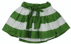striped green skirt with tie Abercrombie & Fitch Womens Elsie Striped Mini Skirt