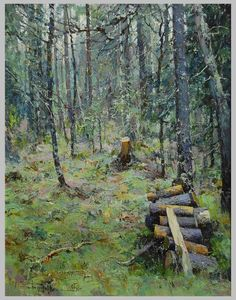 . Landscape Prints, Contemporary Landscape, Landscape Art, Landscape Paintings, Russian Painting, Russian Art, Russian Landscape, Woodland Art, Ukrainian Art