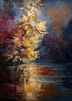 View Justyna Kopania's Artwork on Saatchi Art. Find art for sale at great prices from artists including Paintings, Photography, Sculpture, and Prints by Top Emerging Artists like Justyna Kopania. Canvas Frame, Canvas Wall Art, Canvas Canvas, Landscape Paintings, Oil Paintings, Painting Art, Autumn Painting, River Painting, Floral Paintings