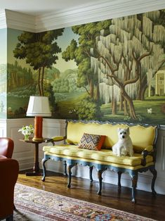 De Gournay Wallpaper, Of Wallpaper, Beautiful Wallpaper, Painted Wallpaper, Scenery Wallpaper, Primary And Secondary Colors, Art Deco, Elegant Homes, Mellow Yellow