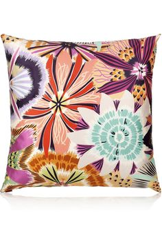 Missoni Home|Large Neda down and feather-filled sateen cushion|NET-A-PORTER.COM