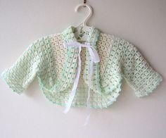 Vestidos al crochet para bebés con explicaciones - Imagui