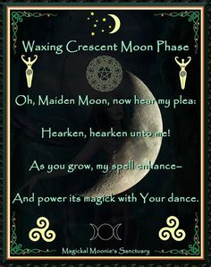 Waxing Crescent potency prayer