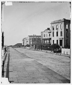East Battery St, taken just after the city surrendered to Union troops in February 1865.