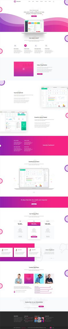 Execution a creative and multipurpose #PSD Template for #app and #product showcase landing page website with 15 layered PSD files download now➩ https://themeforest.net/item/execution-material-app-landing-product-showcase-psd-template/19757819?ref=Datasata