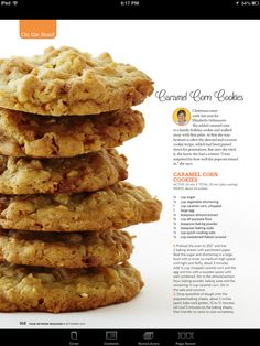I can't wait to try these!  Caramel corn cookies
