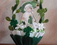ST. PATRICK'S DAY Nut Cup - candy cup- table decor - Maureen